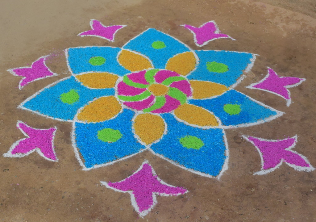 Welcome Kolam for Thai Pongal