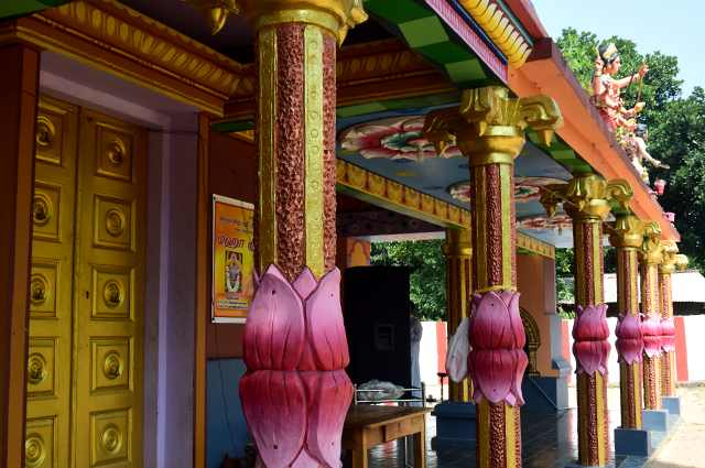 Sri Durgai Amman temple pillars